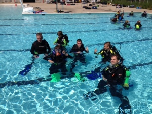 Scuba training at a Fredericksburg quarry