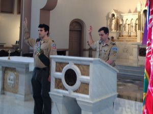 Alexander Recites the Eagle Scout Promise