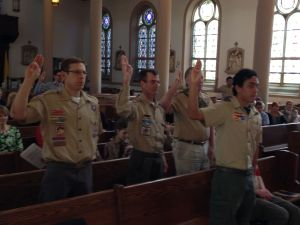 Eagle Scouts From Other Generations Reaffirm the Eagle Scout Oath