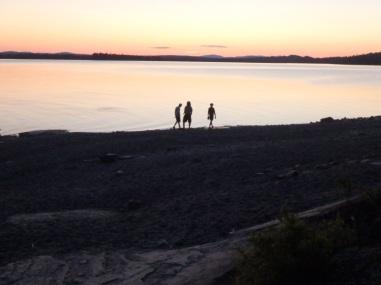 Sunset on the beach, Gero Island, Maine